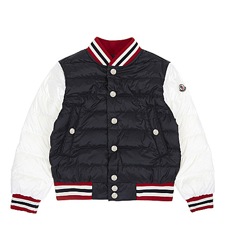 MONCLER Enrick quilted bomber jacket 4-14 years (744+black/white