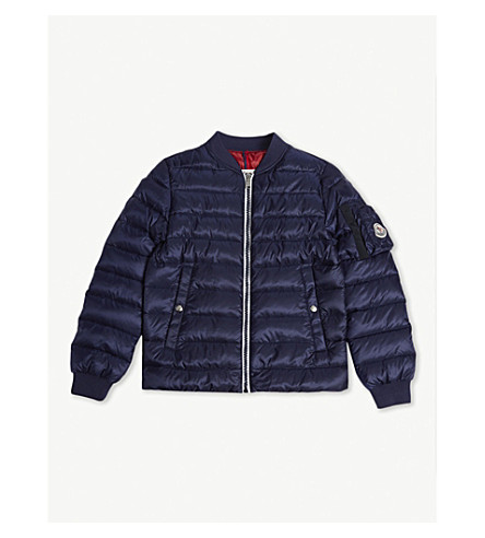 MONCLER Aidan quilted bomber jacket 4-14 years (742+navy