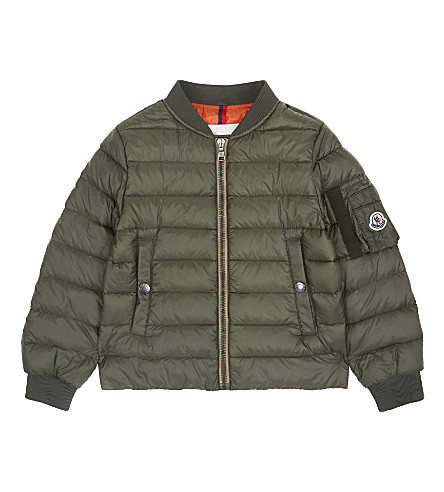 MONCLER Aidan quilted bomber jacket 4-14 years (889+khaki