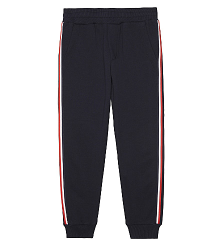 MONCLER Stripe trim cotton jogging bottoms 4-14 years (742+navy