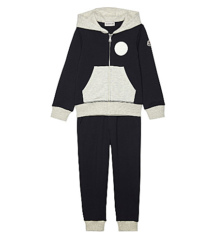 MONCLER Patches cotton tracksuit 4-14 years (742+navy