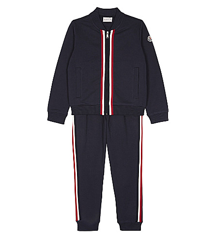 MONCLER Classic cotton tracksuit 4-14 years (742+navy