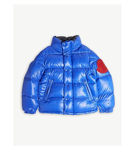 MONCLER Dervaux 标志夹层夹克 4-14 岁 (蓝色
