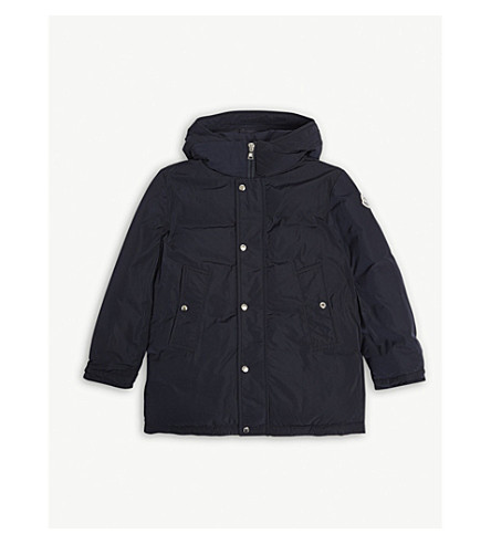 MONCLER Layon quilted parka 4-14 years (Navy