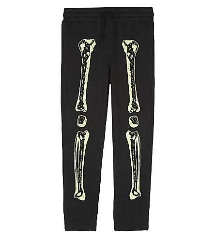 STELLA MCCARTNEY Zachary skeleton tracksuit bottoms 4-12 years (Black