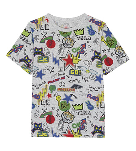 STELLA MCCARTNEY Arrow stickers print cotton t-shirt 4-14 years (Sticker pr