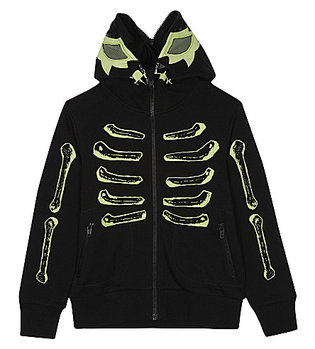 STELLA MCCARTNEY Bandit glow-in-the-dark cotton hoody 4-12 years (Black