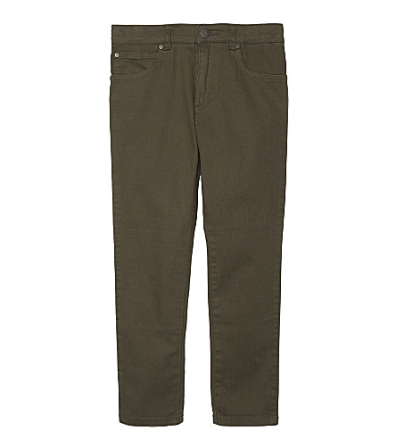 STELLA MCCARTNEY Pedro cotton trousers 4-14 years (Explorer khaki