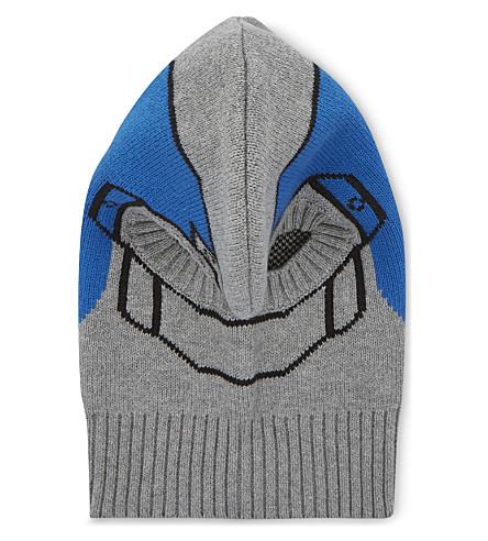STELLA MCCARTNEY Intarsia knitted helmet hat (Thunder