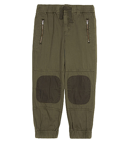 STELLA MCCARTNEY Patch-detailed cotton trousers 4-16 years (Croc+khaki