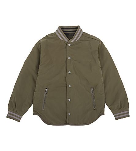 STELLA MCCARTNEY Cotton bomber jacket 4-16 years (Khaki+checks