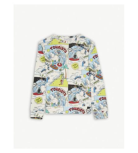 STELLA MCCARTNEY Alien print cotton sweatshirt 4-14 years (Tourist