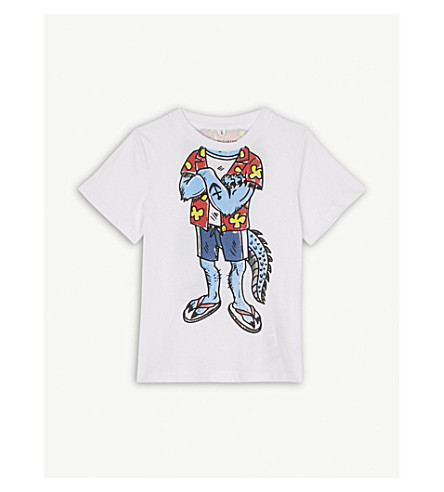 STELLA MCCARTNEY Arlo mutant cotton T-shirt 4-10 years (White