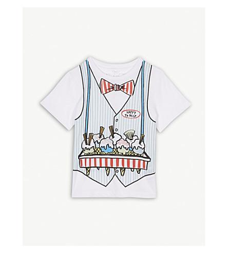 STELLA MCCARTNEY Ice cream print cotton t-shirt 4-10 years (White