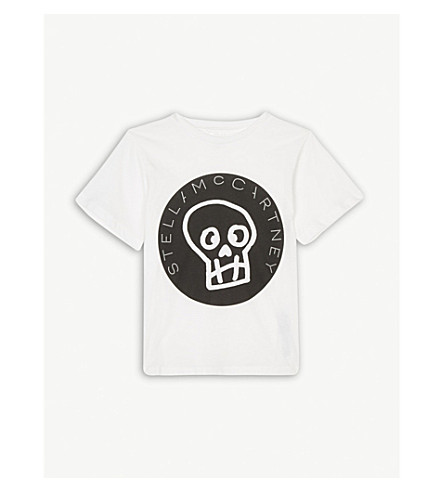 STELLA MCCARTNEY Skull logo cotton t-shirt 4-16 years (White