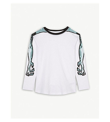 STELLA MCCARTNEY Monster arms cotton T-shirt 4-14 years (White
