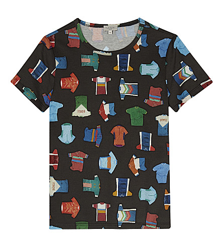 PAUL SMITH JUNIOR Shirt motif T-shirt 4-16 years (Black