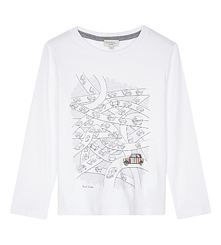 PAUL SMITH JUNIOR Paddy car print cotton t-shirt 4-16 years (White