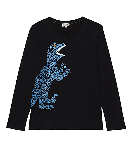 PAUL SMITH JUNIOR Parry dinosaur cotton T-shirt 4-14 years (Black