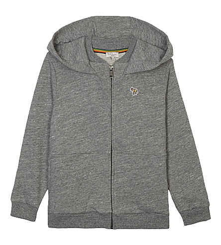 PAUL SMITH JUNIOR Patterson cotton jersey hoodie 4-16 years (Marl+grey