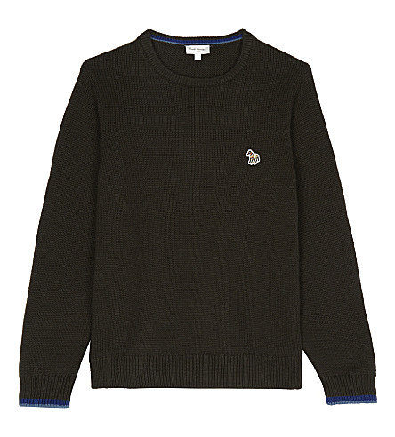 PAUL SMITH JUNIOR Pancras knitted jumper 4-16 years (Marl+khaki
