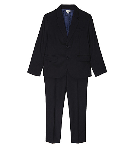 PAUL SMITH JUNIOR Perfect non-crease wool suit 6-16 years (Navy