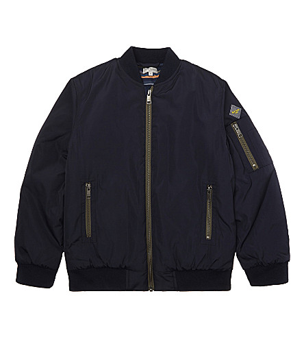 PAUL SMITH JUNIOR Paco padded bomber jacket 6-16 years (Navy