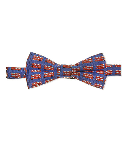 PAUL SMITH JUNIOR Pago bus silk bow tie (Blue