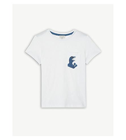 PAUL SMITH JUNIOR Dinosaur motif cotton T-shirt 4-16 years (White