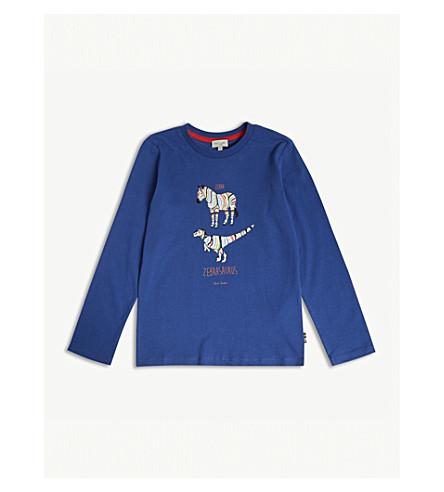 PAUL SMITH JUNIOR 'Zebrasaurus' cotton T-shirt 4-16 years (Blue