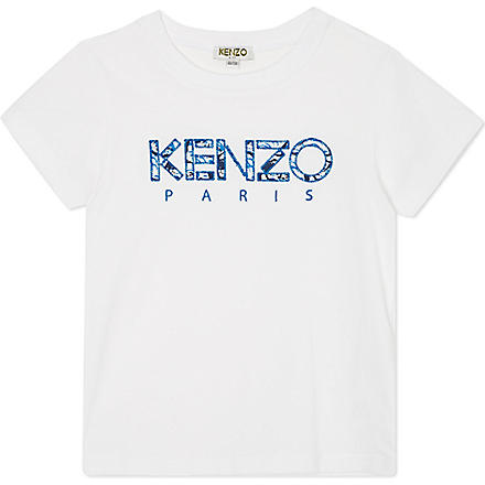 KENZO Wave logo t-shirt 4-16 years (White