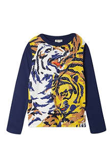 KENZO Long-sleeved tiger print top 4-16 years