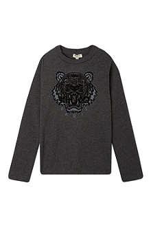 KENZO Tiger motif t-shirt 4-16 years
