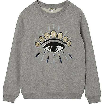 KENZO Eye sweatshirt 2-16 years (Grey