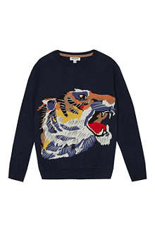 KENZO Tiger long-sleeve jumper 4-16 years