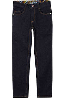 KENZO Contrast trim jeans 4-16 years