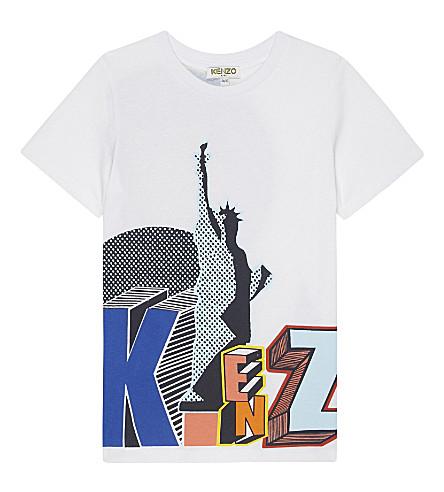 KENZO Bob cotton T-shirt 4-16 years (Blanc