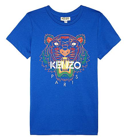 KENZO Tiger head cotton t-shirt 4-16 years (Vivid blue