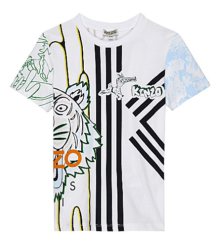 KENZO Benji cotton t-shirt 4-16 years (Blanc