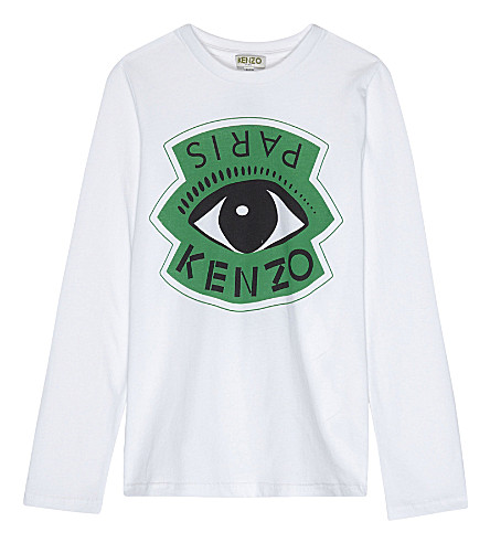 KENZO Eye print long-sleeved top 4-16 years (White