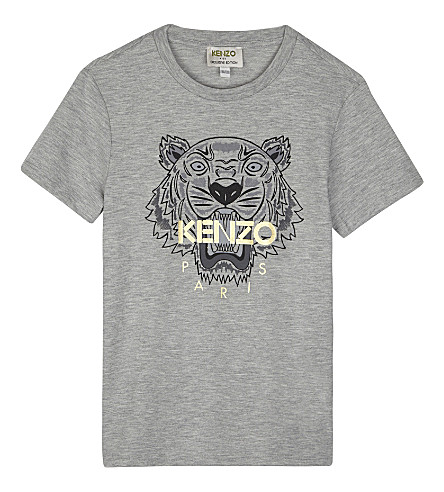 KENZO Foil logo heathered T-shirt 4-16 years (Grey