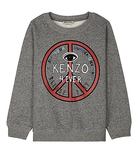 KENZO Kenzo 4ever cotton sweatshirt 4-16 years (Grey