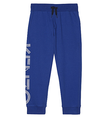 KENZO Logo cotton tracksuit bottoms 4-16 years (Blue