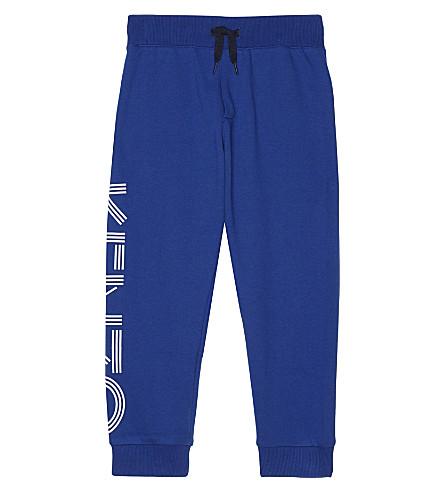 KENZO Logo cotton track pants 4-16 years (Blue
