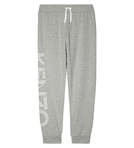 KENZO Logo leg cotton jogging bottoms 4-16 years (Grey