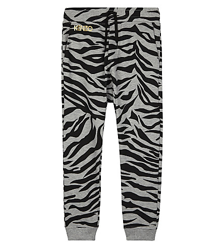 KENZO Tiger stripe cotton jogging bottoms 4-16 years (Grey