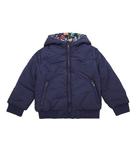 KENZO Reversible hooded jacket 4-16 years (Navy