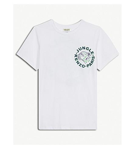 KENZO Jungle-print cotton T-shirt 4-16 years (White