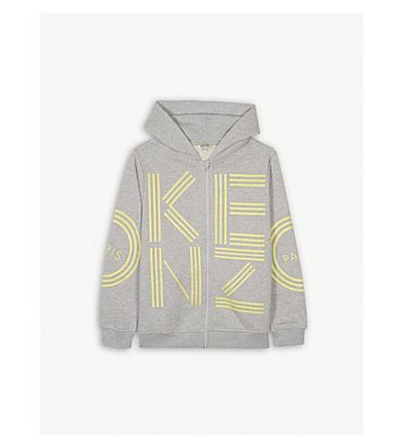 KENZO Logo cotton hoody 4-16 years (Marled+grey
