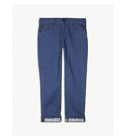 KENZO Cotton-blend jeans 4-16 years (Denim